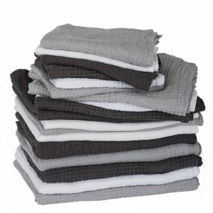 By Nord hørhåndklæde 130 x 100 cm - Mørkegrå