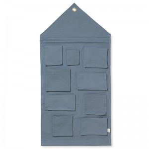 Ferm Living House Wall Storage - Dusty Blue