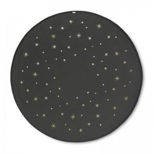 Ferm Living Star Juletræstæppe - Mørkegrøn
