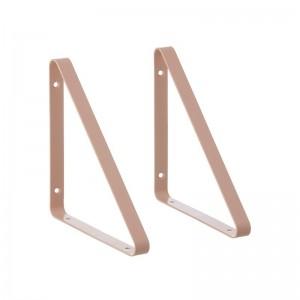 Ferm Living Metal Shelf Hangers - Hyldeknægte i Rosa