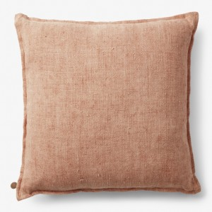 By Nord BRYNHILD Linen Hørpude Dusty Rose - 50 x 50 cm